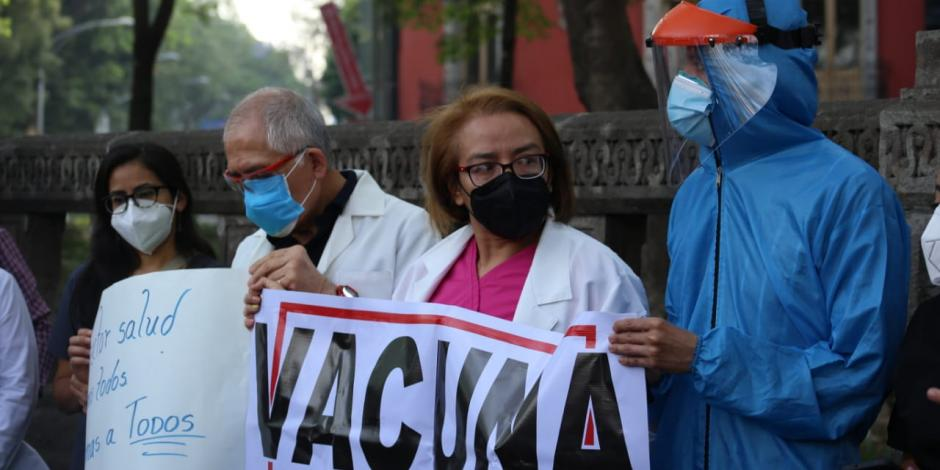 Personal de Salud-COVID-19-protesta