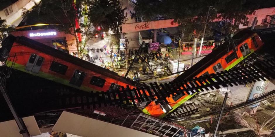 Se desploma Metro al caer tramo entre estaciones Olivo y Tezonco de la Línea  12
