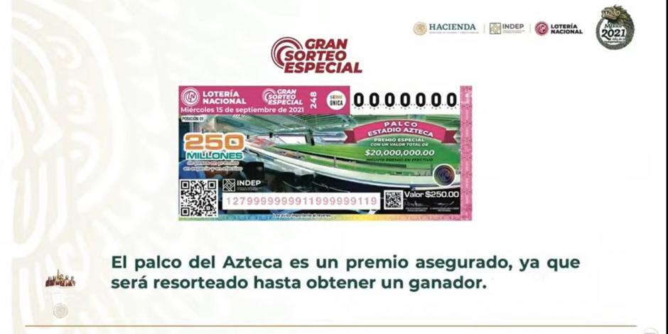 Información sobre el palco en el Estadio Azteca.