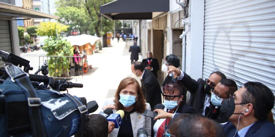 Diputada asegura a padres que no habrá impunidad con Saúl Huerta.