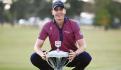 El golfista celebra su título, ayer, en Texas.