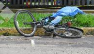 Muere ciclista en Metepec