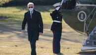 Joe Biden en los jardines de la Casa Blanca.