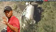 Tiger Woods sufre terrible accidente de coche y lo hospitalizan de emergencia