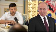 Vladimir Putin y Vladimir Zelensky