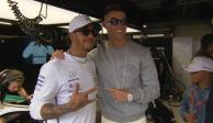 Cristiano Ronaldo y Lewis Hamilton