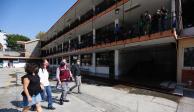 Caludia Sheinbaum revisa escuelas