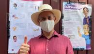 Hugo López-Gatell acudió a emitir su voto