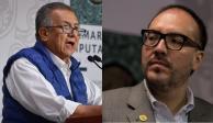 El morenista Saúl Huerta y el petista Mauricio Toledo.