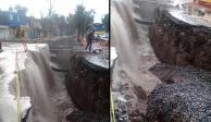 """Se abre socavón ahora en San Luis Potosí, y ya lo llamaron """"las cascadas"""""""