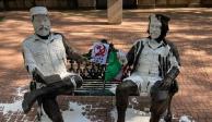 """Estatuas de Fidel Castro y del """"Che"""" Guevara"""