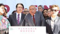 Arropa Delgado a Garduño tras críticas de Porfirio