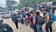 Migrantes en Matamoros se quejan de discriminación y comida
