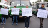 Con megamarcha, transportistas pedirán aumento de 2 pesos a tarifa