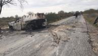Calcinan a cinco hombres dentro de camioneta en Nuevo León