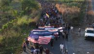 Ingresa caravana migrante a México, avanza hacia Tapachula