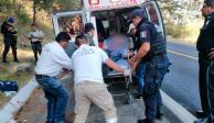 Tras secuestro, dejan baleado a sacerdote en la México-Puebla