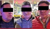 Detienen a 3 presuntos implicados en robos a conductores en Periférico