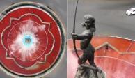 La Diana Cazadora también se tiñe de rojo por mujeres asesinadas