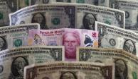 Peso gana 0.73%; dólar cotiza en $24.91 por unidad en bancos