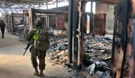 Así quedó una de las bases de EU en Irak tras bombardeo iraní (FOTOS)