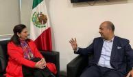 Embajadora Teresa Mercado agradece respaldo de AMLO