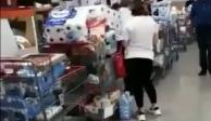 Papel de baño y productos de limpieza... así son las compras de pánico en Monterrey (VIDEOS)