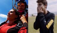 Galilea Montijo se lanza en paracaídas con Juanpa Zurita y se desmaya (VIDEO)