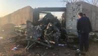Accidente de avión ucraniano en Irán no deja sobrevivientes