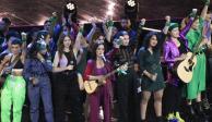 Spotify Awards se tiñen de verde con mensaje feminista