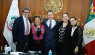 PVEM en el Senado respalda a Raquel Buenrostro en el SAT