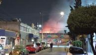 Incendio consume otro mercado en CDMX, ahora el Morelos (VIDEO)