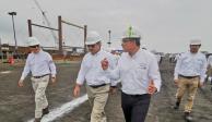Supervisa Octavio Romero construcción de plataformas en Tamaulipas