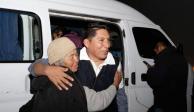 AMLO celebra liberación del activista Miguel López, en Puebla