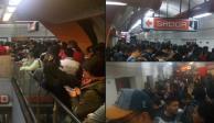 Reportan retrasos y aglomeraciones en Línea 7 del Metro (FOTOS)
