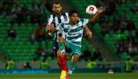 Santos y Rayados igualan a cero en la ida de los cuartos de Copa MX