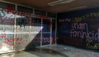Acusa UNAM provocación de grupos violentos tras pintas en Rectoría