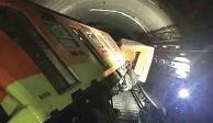 """""""Sin control, convoy se impactó a 70 km/h"""": Sindicato del Metro"""
