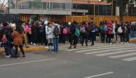 Cierran accesos a Prepas 5 y 3 en apoyo a marcha del CCH Azcapotzalco