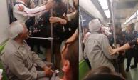 Intentan echar a anciano de vagón exclusivo del Metro y desata polémica en redes (VIDEO)