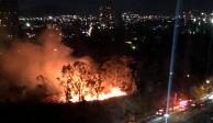 Reportan incendio en pastizales de Santa Fe; bomberos trabajan en la zona