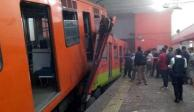 Reporta GCDMX 4 hospitalizados por choque de trenes del Metro