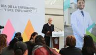 Alfredo Del Mazo reconoce en su día a enfermeras y enfermeros del Edomex