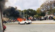 Antorchistas son investigados por disturbios en Amozoc