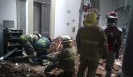 Derrumbe en restaurante deja dos personas heridas en Tlaquepaque
