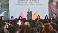 Entrega Alfredo Del Mazo ampliación de Universidad Politécnica de Tecámac