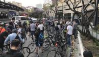 #TodosQueremosLlegarACasa, ciclistas protestan sobre Insurgentes
