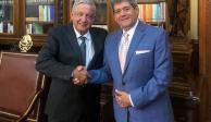 AMLO recibe en Palacio Nacional al empresario René Calderón