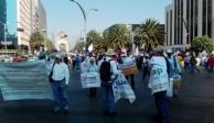 En el Día del Trabajo, sindicalizados marchan al Zócalo de la CDMX