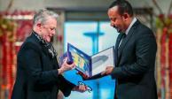 Abiy Ahmed, primer ministro de Etiopía, recibe el Nobel de la Paz